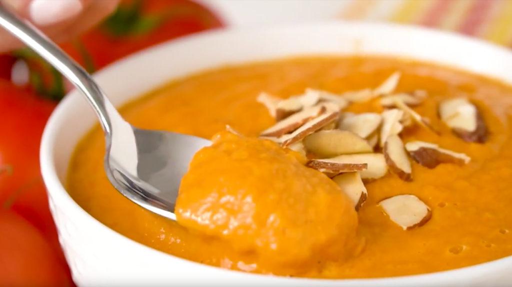 gedijen gevriesdroogd voedsel gekruide tomatensoep recept